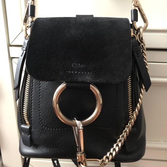 76ab28678 Chloe Bags | Faye Backpack Mini In Black | Poshmark